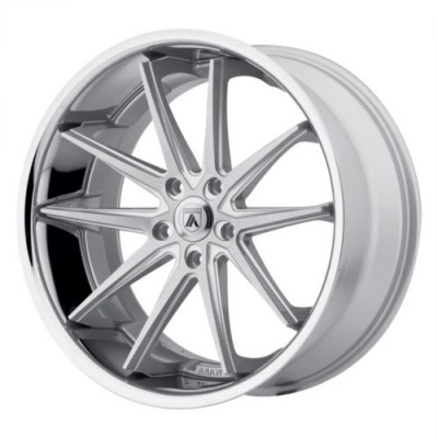 Asanti Black ABL-5 ALTAIR Silver Machine Lip wheel (20X10, , 74.1, 0 offset)