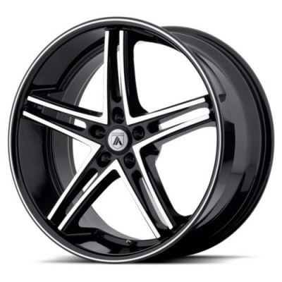 Asanti Black ABL-7 Machine Black wheel (20X8.5, 5x114.3, 74.10, 38 offset)