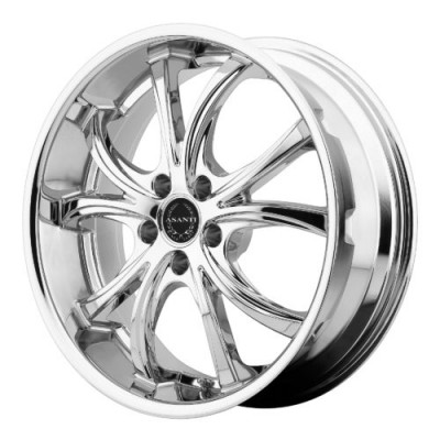 Asanti Black ABL-8 Chrome wheel (22X10, 5x115, 74.10, 20 offset)