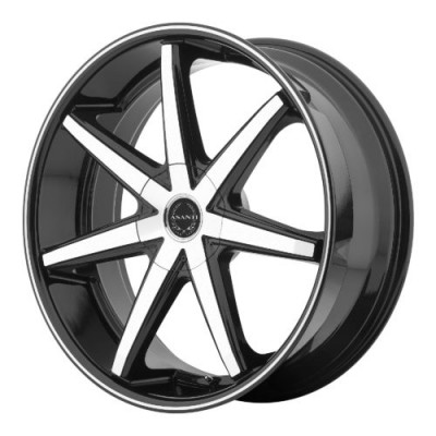 Asanti Black ABL-9 Machine Black wheel (20X10, 5x127, 78.30, 38 offset)
