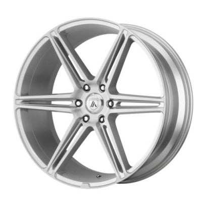 Asanti Black ALPHA 6 Machine Silver wheel (20X9, 6x139.7, 100.5, 30 offset)