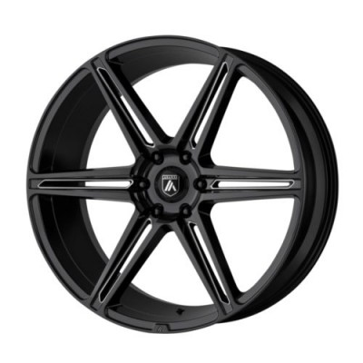 Asanti Black ALPHA 6 Gloss Black Machine wheel (20X9, 6x139.7, 100.5, 30 offset)