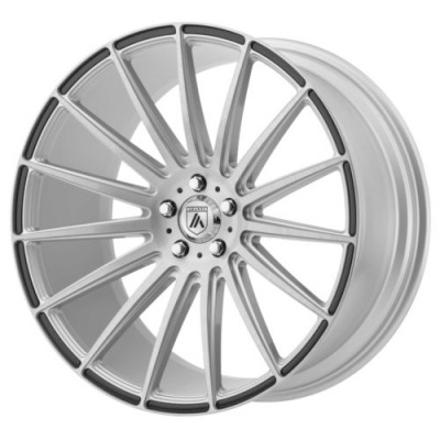 Asanti Black POLARIS Machine Silver wheel (20X9, , 72.6, 0 offset)