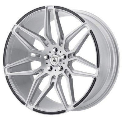 Asanti Black SIRIUS Machine Silver wheel (20X8.5, , 72.6, 38 offset)
