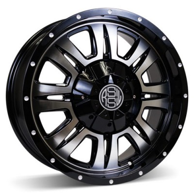 RSSW Heritage Machine Black / Noir lustré face machinée, 18X8, 5x150 ,(déport/offset 30 ) 110 Toyota