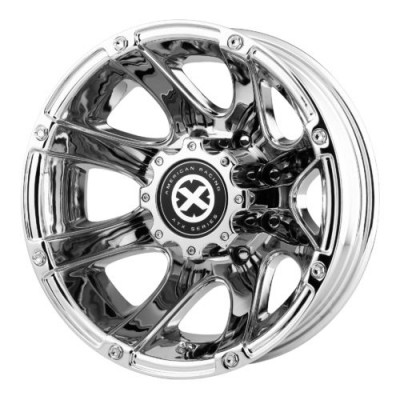 ATX Series AX189 LEDGE DUALLY Chrome wheel (17X6, 8x200, 142.00, 111 offset)