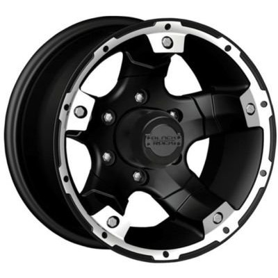 Cragar Viper 900B Satin Black wheel (15X8, 5x139.7, 130.1, -19 offset)