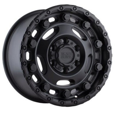 Black Rhino GLACIER Matte Black wheel (16X8, 5x160, 65.1, 45 offset)