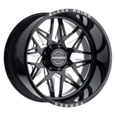 Black Rhino TWISTER Gloss Black Diamond Cut wheel (22X14, 6x139.7, 112.1, -76 offset)