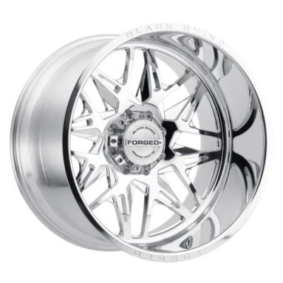 Black Rhino TWISTER Polished wheel (24X14, 8x165.1, 122.1, -76 offset)