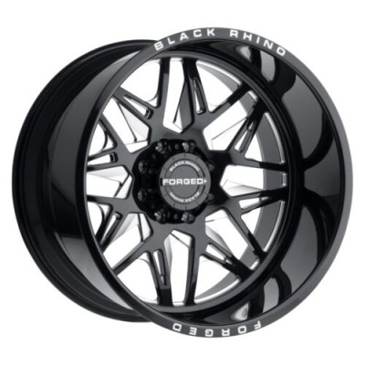 Black Rhino TWISTER Gloss Black Machine wheel (24X14, 6x139.70, 112.1, -76 offset)