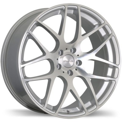 Braelin BR06 Machine Silver wheel (19X9.5, 5x130, 71.6, 45 offset)