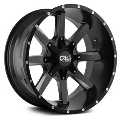 Cali Off-Road BUSTED Satin Black wheel (20X9, 5x127/139.7, 87, 0 offset)