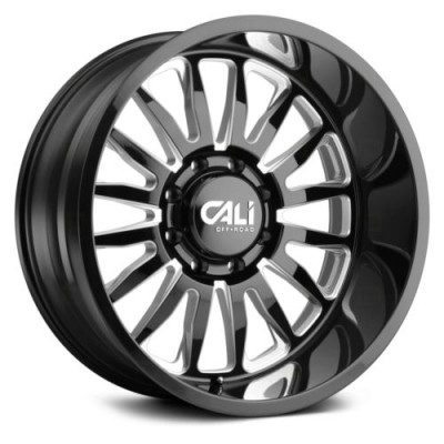 Cali Off-Road SUMMIT Gloss Black Diamond Cut wheel (20X9, 6x135, 87.1, 0 offset)