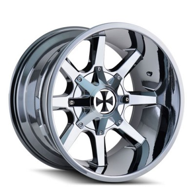 Calioffroad 9100 Busted PVD Chrome / Chrome Vaporise, 22X12, 8x165.1/170 ,(déport/offset -44 ) 130.8