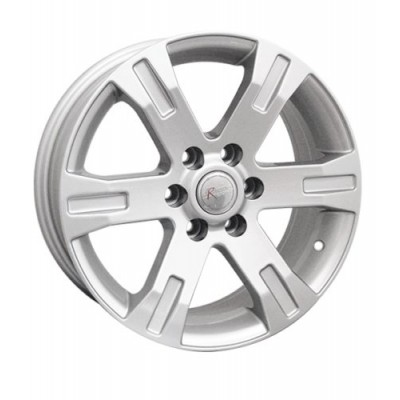 Ceco Series BK398 Silver wheel (16X6.5, 6x114.3, 66.1, 30 offset)