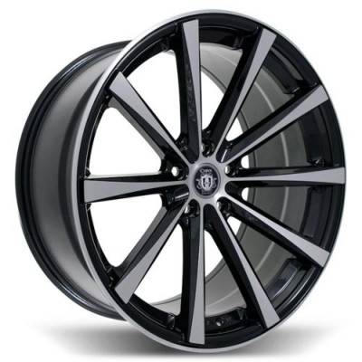 Curva C10N Machine Black wheel | 19X9.0, , 73.1, 38 offset