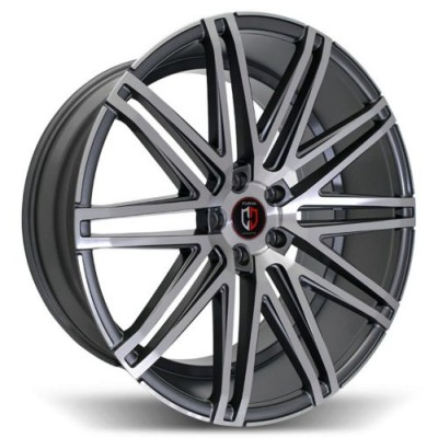 Curva C48 Machine Gunmetal wheel (20X9.0, 5x114.3, 73.1, 35 offset)