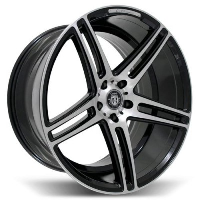 Curva C5 Machine Black wheel (18X8.0, 5x114.3, 73.1, 35 offset)