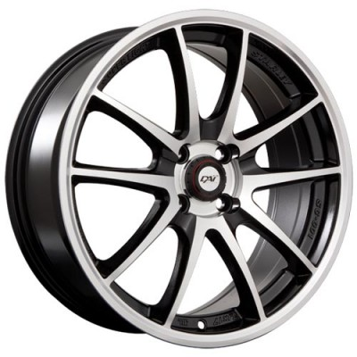 Dai Alloys Emotion Gloss Black Machine wheel (15X6.5, 5x114.3, 73.1, 40 offset)