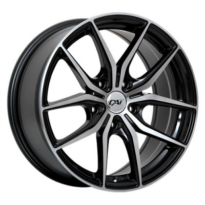 Dai Alloys Arc Gloss Black Machine wheel (15X6.5, 5x114.3, 73.1, 38 offset)