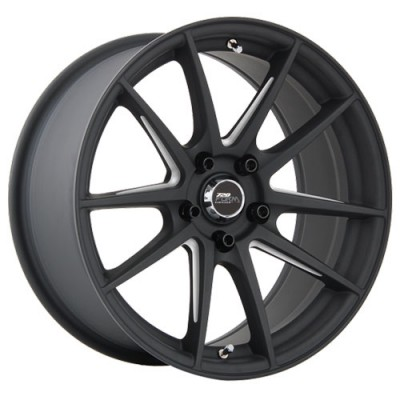 720 Form GTF1 Matt Black Machine wheel (17X9, 5x114.3, 73.1, 35 offset)