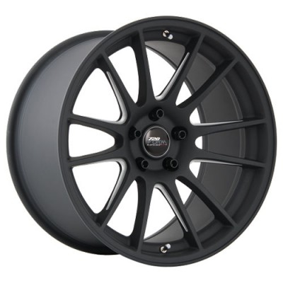 720 Form GTF2 Matt Black Machine wheel (18X10, 5x114.3, 73.1, 25 offset)
