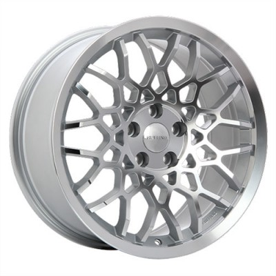 Ruffino Wheels Meister Silver - Diamond Face/Argent - Façade diamant, 18X8.5, 5x100 ,(déport/offset35 )57.1