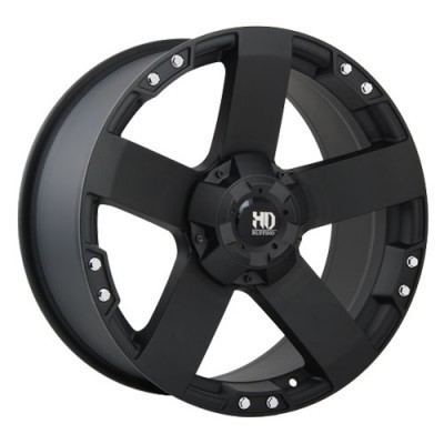 Dai Alloys Nitro Matte Black wheel (17X9, 6x139.7, 108.1, 20 offset)