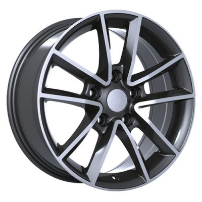 Art Replica Wheels Replica 48 Machine Gunmetal wheel (17X7.5, 5x127, 71.5, 35 offset)