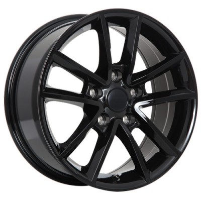Art Replica Wheels Replica 48 Gloss Black/Noir lustré, 17X7.5, 5x127 ,(déport/offset35 )71.5 Dodge/Chrysler