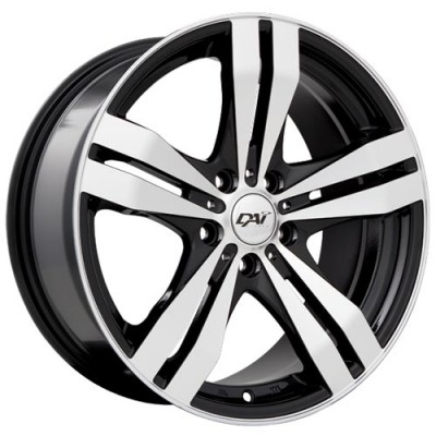 Dai Alloys Target Gloss Black Machine wheel (15X6.5, 5x114.3, 73.1, 40 offset)