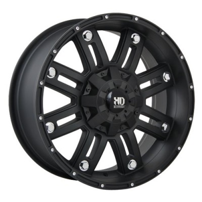 Ruffino Wheels Traxx Matte Black wheel (17X9, 8x165.1, 125.2, 12 offset)
