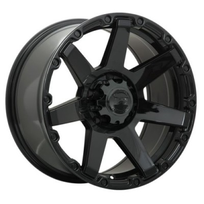 Dai Alloys Barrett Gloss Black wheel (17X8.0, 5x127, 71.5, 10 offset)