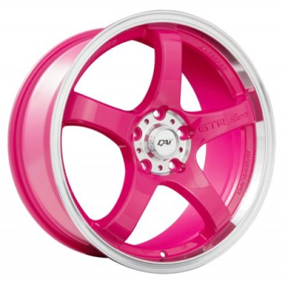 Dai Alloys Candy Pink wheel (17X7.5, 4x100, 73.1, 42 offset)