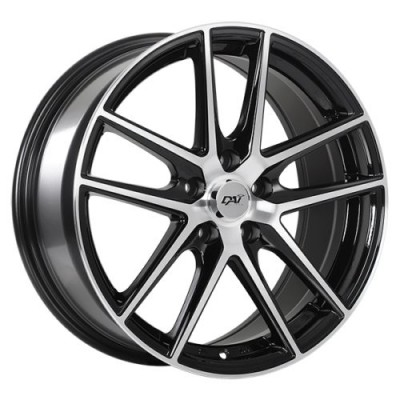 Dai Alloys Level Gloss Black Diamond Cut wheel (14X6.0, 4x100, 73.1, 38 offset)