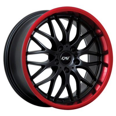 Dai Alloys Passion Black Red Stripe wheel (17X7.5, 5x114.3, 73.1, 45 offset)