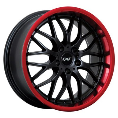 Dai Alloys Passion Black Red wheel (17X7.5, 5x114.3, 73.1, 45 offset)