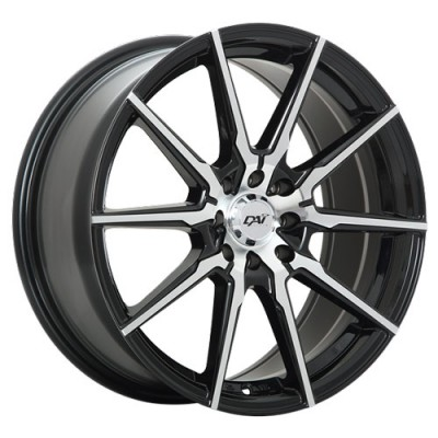 Dai Alloys Raze Machine Black wheel (15X6.5, 5x114.3, 73.1, 40 offset)