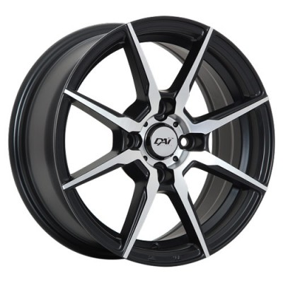 Dai Alloys Zenith Machine Black wheel (14X6, 4x100, 73.1, 37 offset)