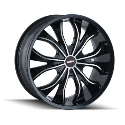 DIP HUSTLER D42 Gloss Black wheel (18X7.5, 4x100/114.3, 67.1, 40 offset)