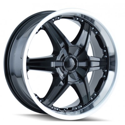 Dip D39 Wicked Black Machine Lip wheel (20X8.5, 6x135/139.7, 108, 30 offset)