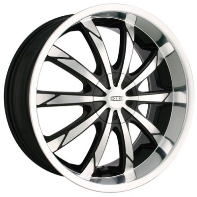 Dip D66 Slack Machine Black wheel (18X7.5, 4x100/114.3, 67.1, 40 offset)