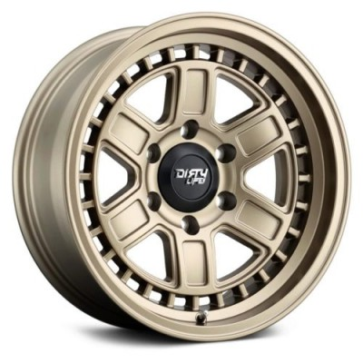 Dirty Life CAGE Matte Gold wheel (17X8.5, 6x139.7, 106, -6 offset)