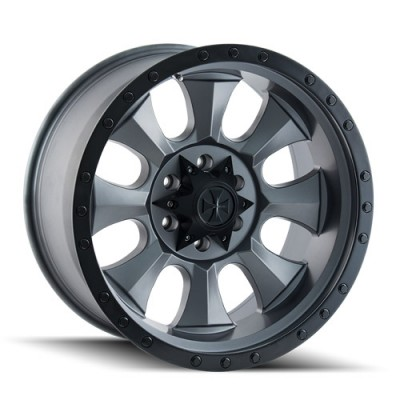 Dirty Life IRONMAN Matte Gun Metal wheel (20X10, 8x180, 124.1, -19 offset)