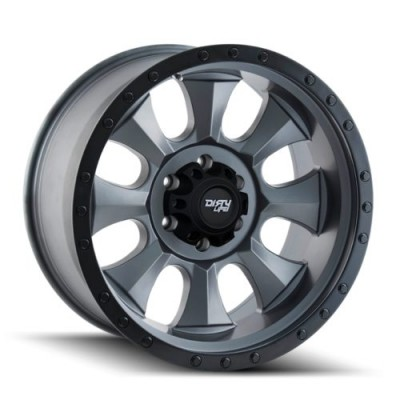 Dirty Life IRONMAN Matte Gun Metal wheel (14X7, 4x156, 131.1, 13 offset)