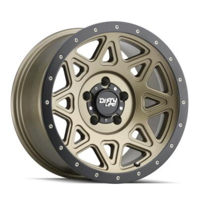 Dirty Life THEORY Matte Gold wheel (17X9, 6x135, 87.1, -12 offset)