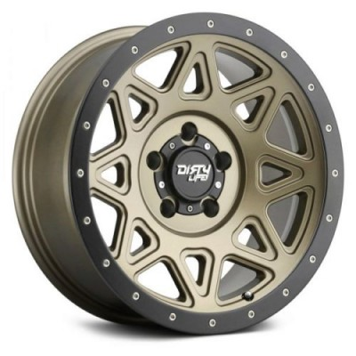 Dirty Life THEORY Matte Gold wheel (17X9, 8x165.1, 130.8, -12 offset)