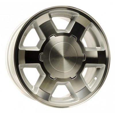 PMC OEM Replica Machined Silver / Argent Machine, 16X7, 6x139.7 ,(déport/offset 20 ) 78.1 Chevrolet / GMC
