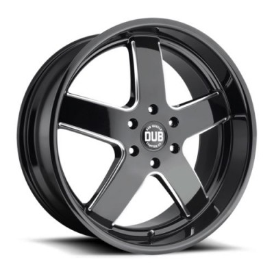 DUB Big Baller S223 Gloss Black Machine wheel (22X9.5, 6x139.7, 78.1, 30 offset)